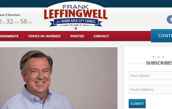 Frank Leffingwell for Round Rock City Council